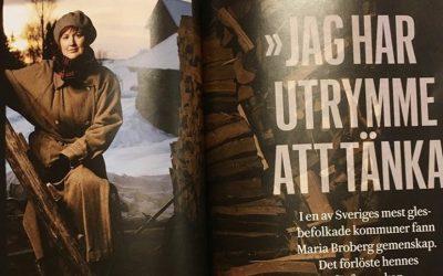 Reportage i tidningen Skriva